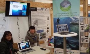 University of Genoa stand at the Bari event highlighting the IDREEM project