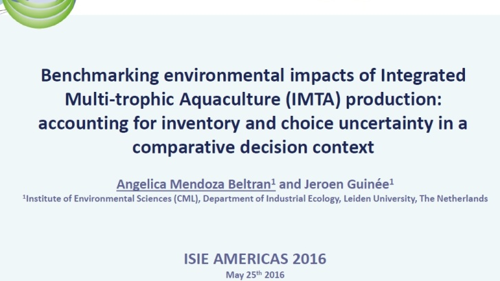 Benchmarking environmental impacts of IMTA